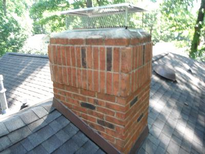 Pressure washed and Chimney Saver water sealant applied